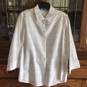 Foxcroft, shaped top, size 12.